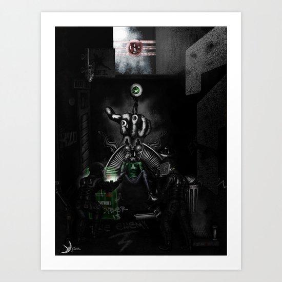 Dark Robot Art Print