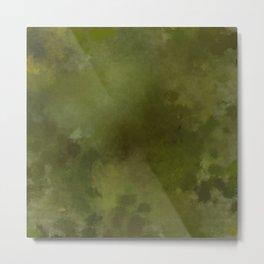 Green brown batic look Metal Print