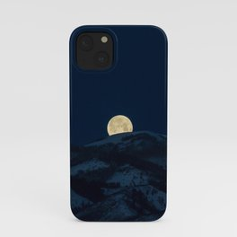 Moonset on the Wasatch Back iPhone Case