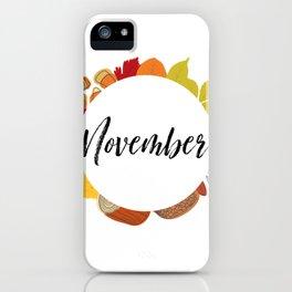 November Bullet Journal iPhone Case