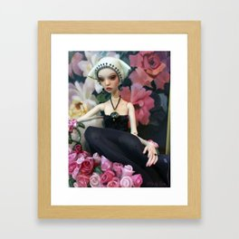 Oola in Pink Framed Art Print