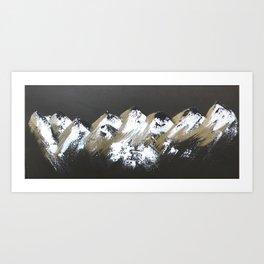Gold Mountains Art Print