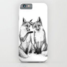 Gossip foxes iPhone Case