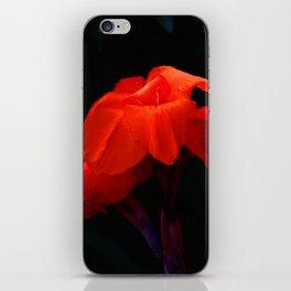Orange Indian Reed Lily Flower iPhone Skin