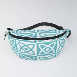 Mid Century Modern Atomic Check 140 Turquoise Fanny Pack