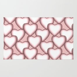Hearts with lace trim. Rug