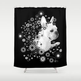 Flower Goddess Frenchie Shower Curtain