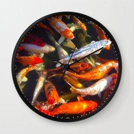 Koi Geometry Wall Clock