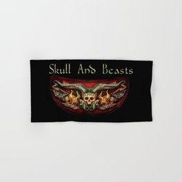 Skull And Beasts 2 Hand & Bath Towel