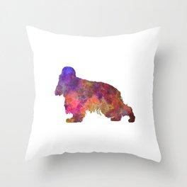 English Cocker Spaniel in watercolor Throw Pillow
