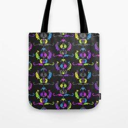 Damask Print Fluoro Tote Bag