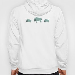 Bison And Baby (Moss) Hoody