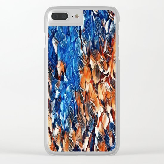 Bold and Beautiful Floral Abstract Clear iPhone Case
