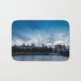 London at Dusk Bath Mat