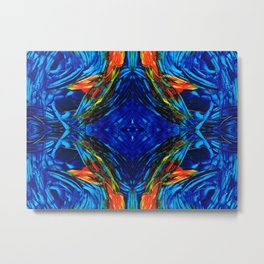 Colorful Blue Abstract - Peace With The Past by Sharon Cummings Metal Print