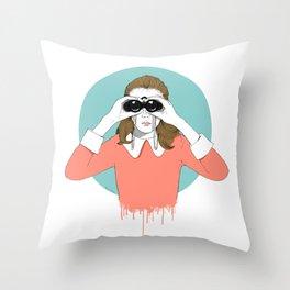 Suzy Moonrise Kingdom  Throw Pillow