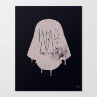 war Canvas Prints featuring WAR by Vaughn Pinpin