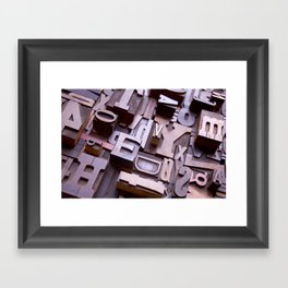 3D Letters - Typography Photography™ Framed Art Print