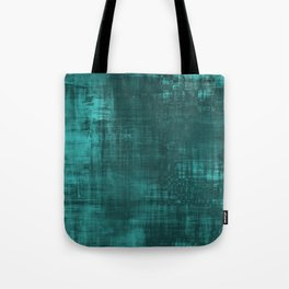 Teal Green Solid Abstract Tote Bag