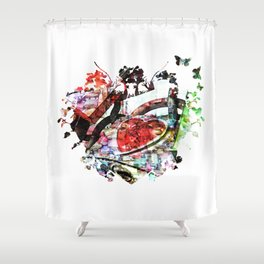 HeartHeart Shower Curtain