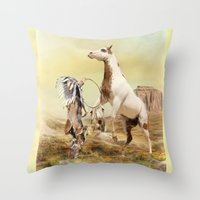 wild things Throw Pillows featuring Wild Things by Trudi Simmonds