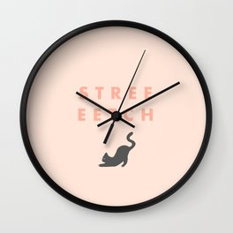 Streeeetch peach Wall Clock