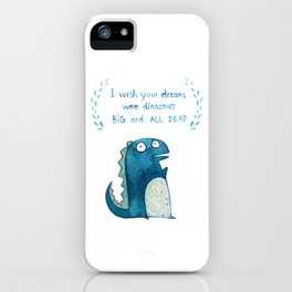 Postcard for your enemy iPhone Case