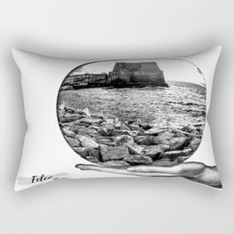 Castel dell' Ovo Napoli Rectangular Pillow