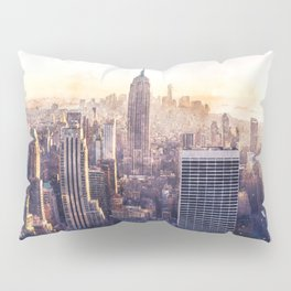 New York City Watercolor Skyline Pillow Sham