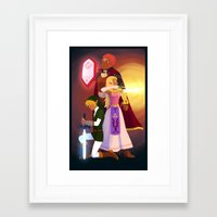 triforce Framed Art Prints featuring Triforce by Puck