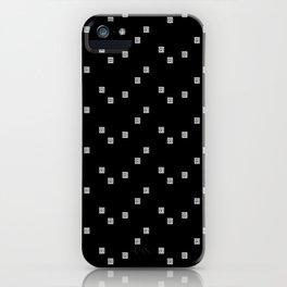 Black and White Geometric 8 iPhone Case