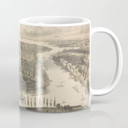 Vintage Pictorial Map of New York City (1855) Coffee Mug