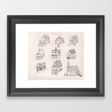 12 tiny houses Framed Art Print