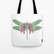 pattern with dragonflies 5 Tote Bag