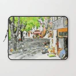 Tortora: man, scooter and child on a bicycle Laptop Sleeve