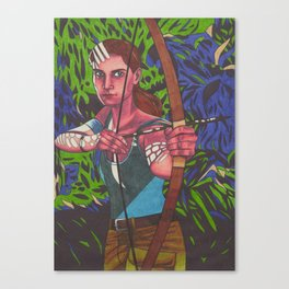 Lara on Fire Canvas Print