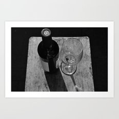 A Bottle of Red Art Print