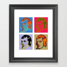 Warhol Burns Framed Art Print