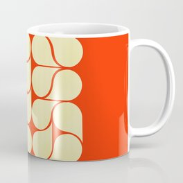 Mid-century abstract with red-no9 Coffee Mug