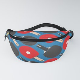 Ping Pong / Table Tennis Pattern (Blue) Fanny Pack