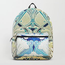 silver art nouveau Backpack