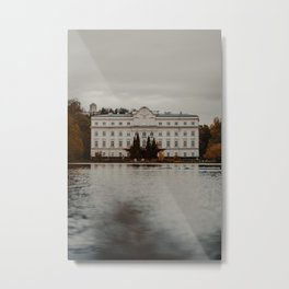 LANDSCAPE PHOTOGRAPHY OF A WHITE CONCRETE 4-STOREY BUILDING Metal Print