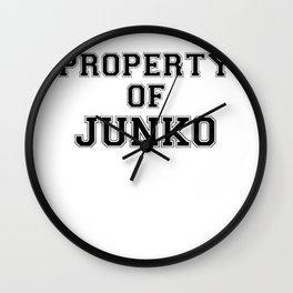 Property of JUNKO Wall Clock