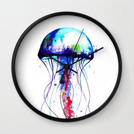 Jellyfish blue Wall Clock