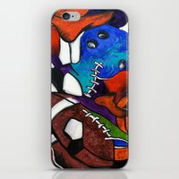 sports iPhone & iPod Skins featuring Sports Fans by Jake Dorr