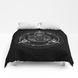 Dark and mysterious wicca style sacred geometry Comforters