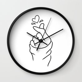Cute Heart Pink Wall Clock