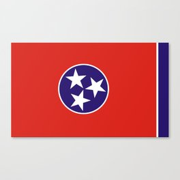 tennessee state state flag united states of america country Canvas Print