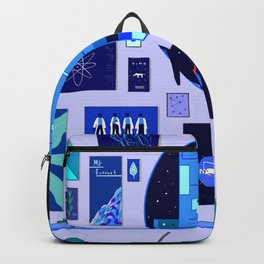Pensive Blue Backpack