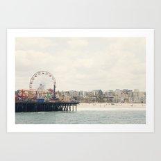 Santa Monica Pier. Happy Birthday Pacific Park!  Art Print